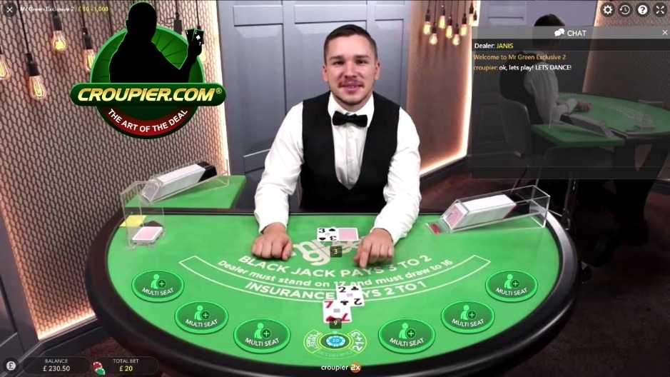 Online Blackjack Dealer Laughing At My Bad Luck Mr Green Live Casino