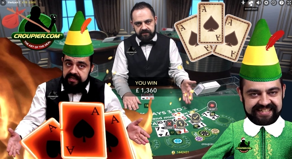 BLACKJACK HIGH STAKES £2,000 VS Live Casino Dealer CEZAR! The LORD of the Suited Trips at Mr Green - Croupier.com