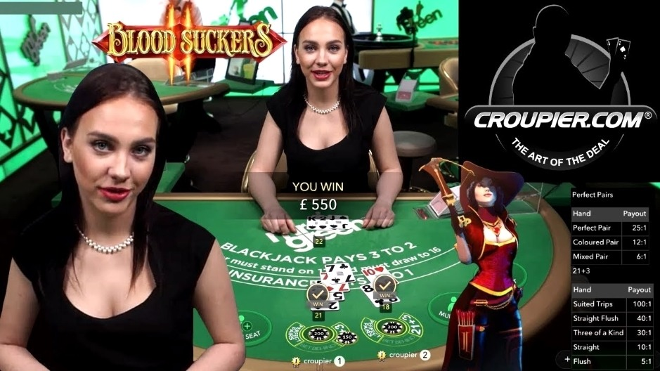 Online Blackjack and High Roller Slots! £25 to £100 Spins! BIG BETS Blood Suckers 2 at Mr Green!
